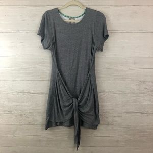 Dolan Left Coast Collection Grey Front Tie Dress